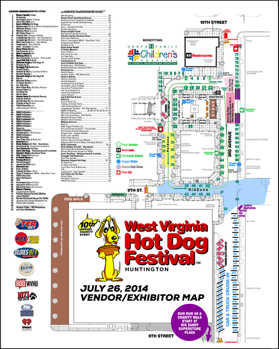 2014 Vendor/Exhibitor Map