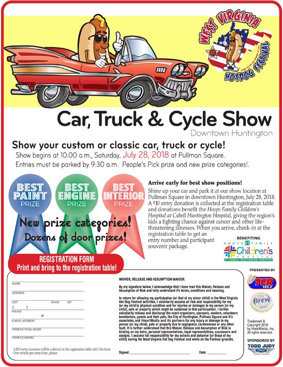 Car Show West Virginia Hot Dog Festival - Car show categories